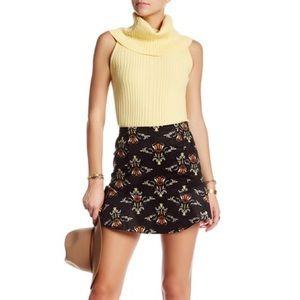 Free People- Corduroy Printed Skirt